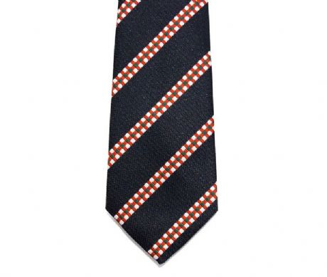 The Kings Own Scottish Borderers regimental tie with red, white and green dice in polyester for only £17.99 and free delivery.